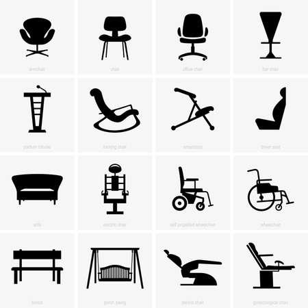 silla: Asientos y sillas Vectores