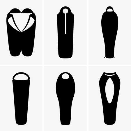 sleeping bags: Sleeping bags Illustration