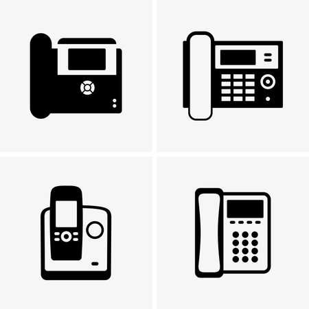IP phones shade pictures Stock Illustratie