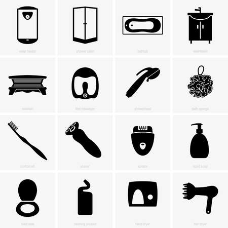 solarium: Bathroom objects Illustration