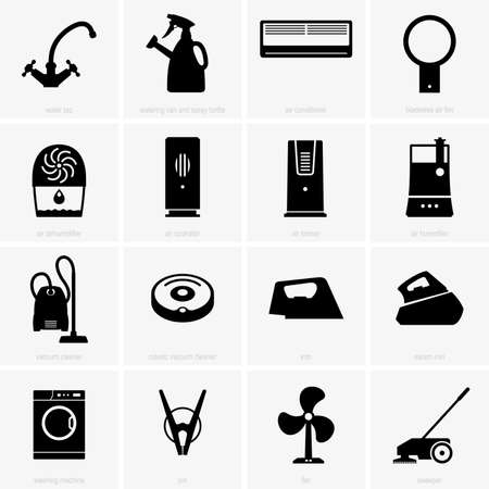 climatic: Climatic and cleaning appliances Illustration