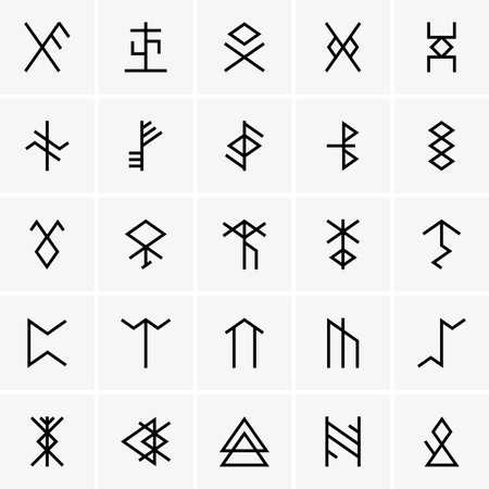 rune: Rune icons Illustration