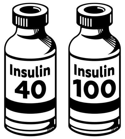 insulin bottle: Insulin bottles, 40 and 100