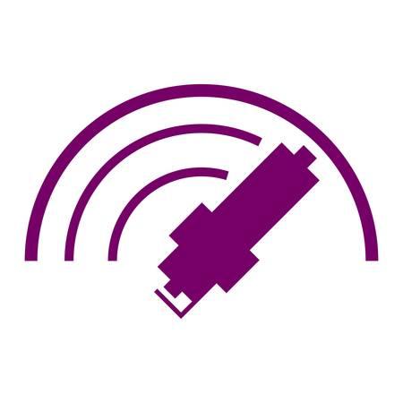 spark plug: Car spark plug icon Illustration