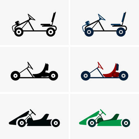 karting: Karts in profile, shade pictures