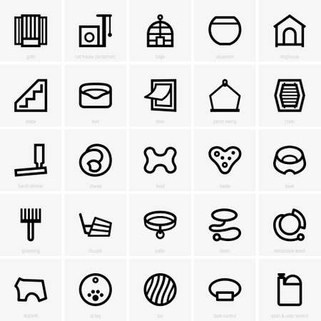 retractable: Pet store icons