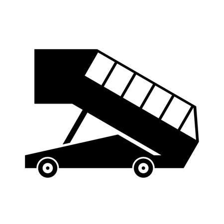 ramp: Landing ramp in profile, shade picture Illustration