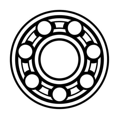 cojinete de bolas Ilustración de vector