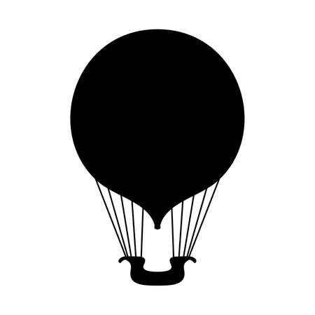 air: Hot air balloon, shade picture
