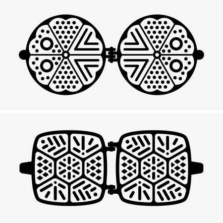 waffle: Waffle irons Illustration