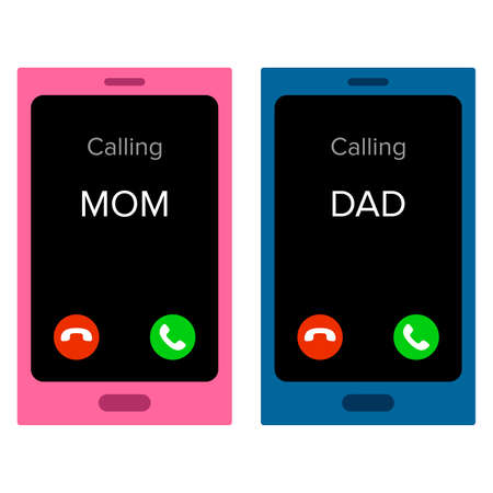 phone and call: Incoming calls Illustration