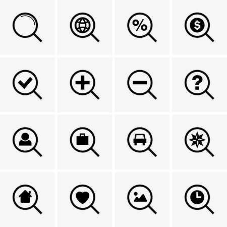 search icons Ilustração Vetorial
