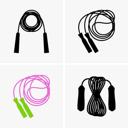 exercise silhouette: Skipping ropes