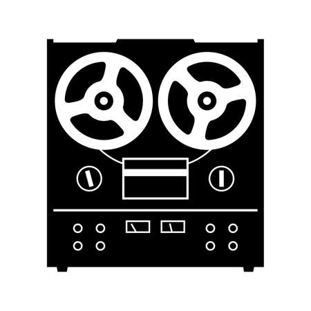 audiophile: Reel to reel tape deck player recorder Illustration