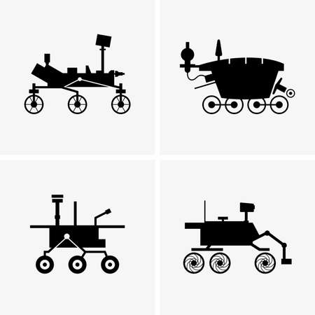 Planetary rovers, shade pictures