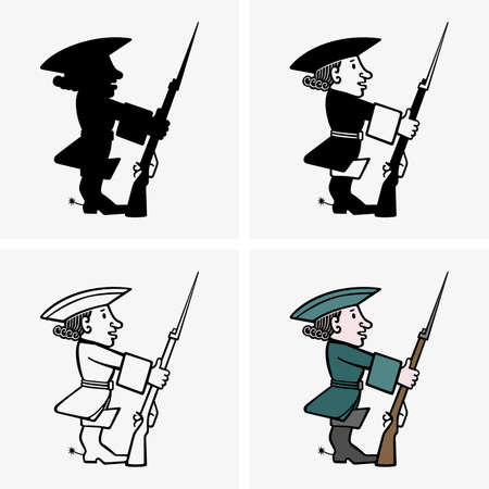 Guardsman, four pictures