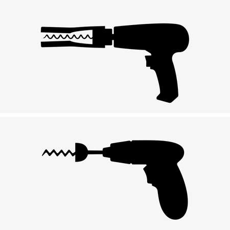 removing: Drill corkscrews, shade pictures Illustration