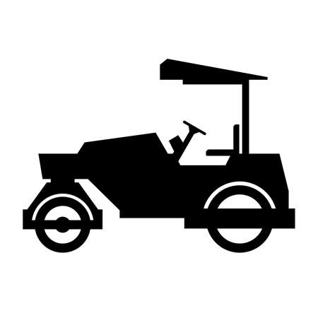heavy vehicle: Road roller, shade picture