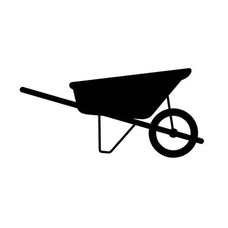 Wheelbarrow cart, shade picture Illustration