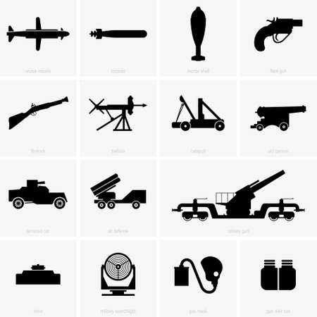 Military icons, shade pictures