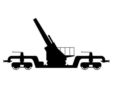 railway transport: Railway gun, shade picture