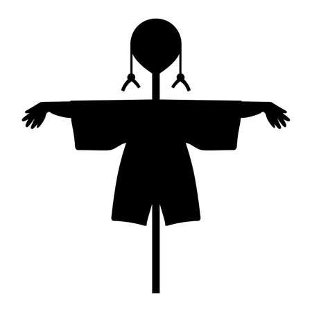 espantapajaros: Scarecrow, shade picture Vectores