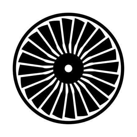 Turbine, schaduwbeeld Vector Illustratie
