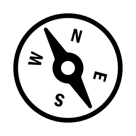 directions icon: compass Illustration