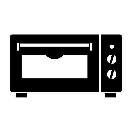 elektrische oven, schaduwbeeld Stock Illustratie