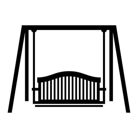 yard furniture: Swing seat, shade picture Illustration