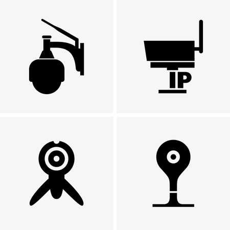 ip camera: Set of Ip cameras, shade picture