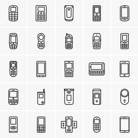 rotator: Set of mobile phones Illustration