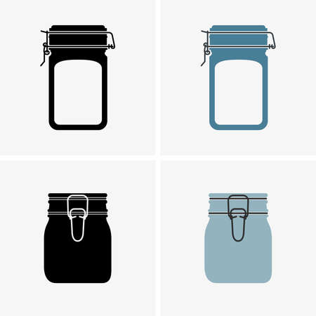 glass jars: Glass jars, shade pictures Illustration
