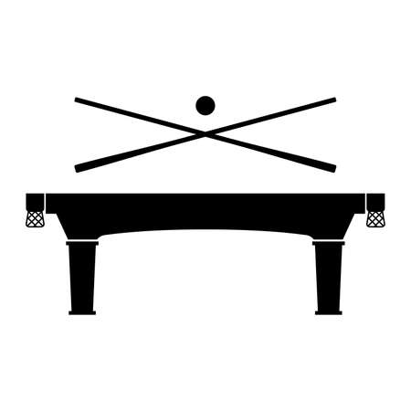 game of pool: Billiard table, shade picture Illustration