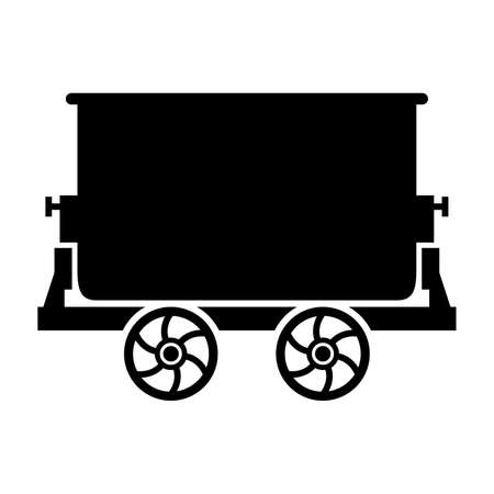 mine: Mine trolley, shade picture Illustration