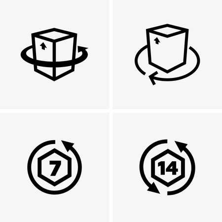 returning: Return goods icons