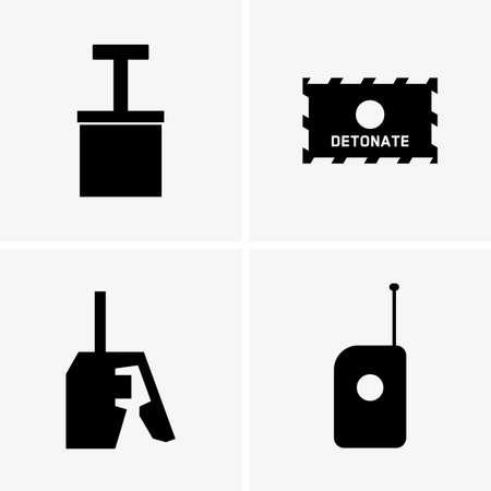 Detonators, shade pictures Illustration