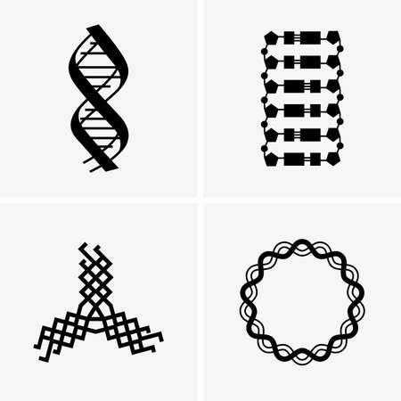 bio medicine: DNA, different forms Illustration