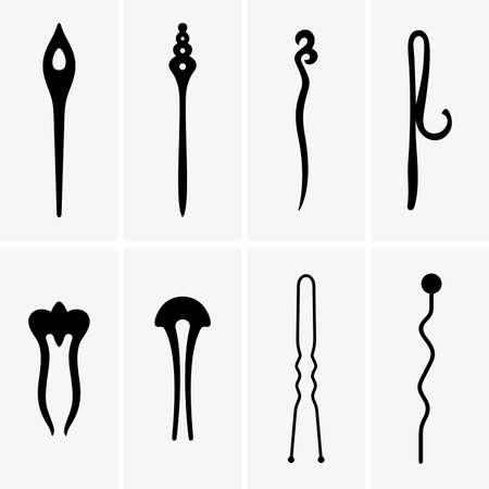hair pins: Hair pins, shade pictures