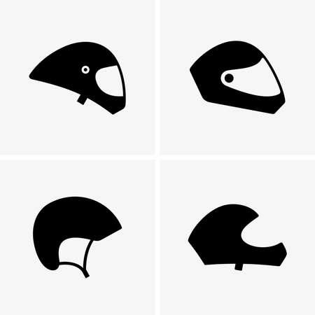 paragliding: Paragliding helmets, shade pictures Illustration