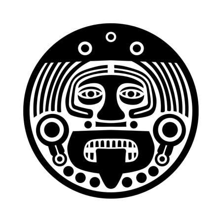 cultura maya: mascarilla Maya Vectores