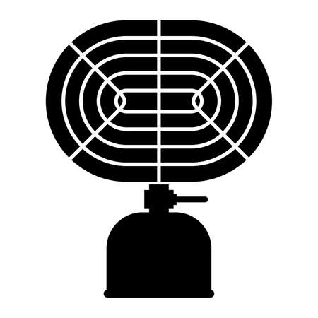 warmer: Camping heater infrared ray, shade picture