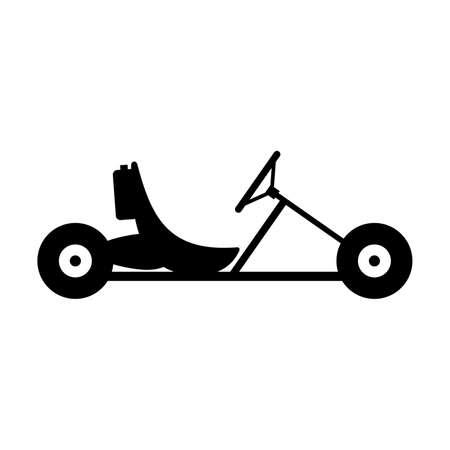 karting: Karting, shade picture Illustration