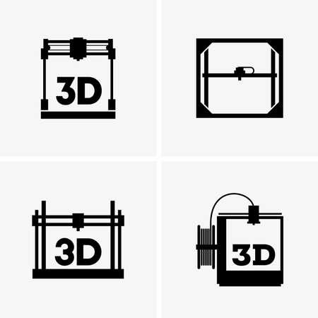 polymerization: 3D printings Illustration