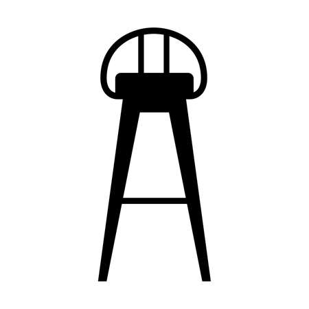 stool: Bar stool, shade picture Illustration