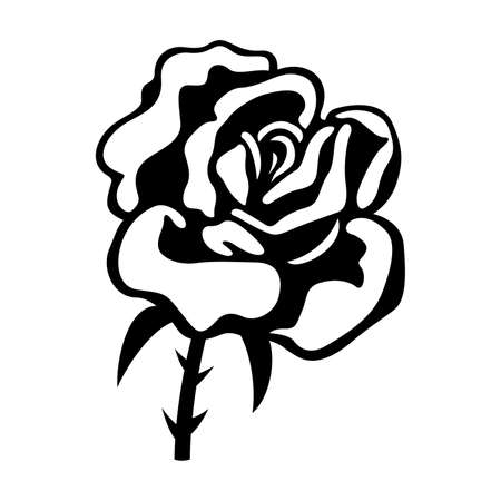 graphic icon: Flower rose, shade picture