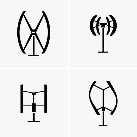 turbines: Vertical axis wind turbines Illustration