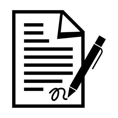 pacto: La firma de un documento Vectores