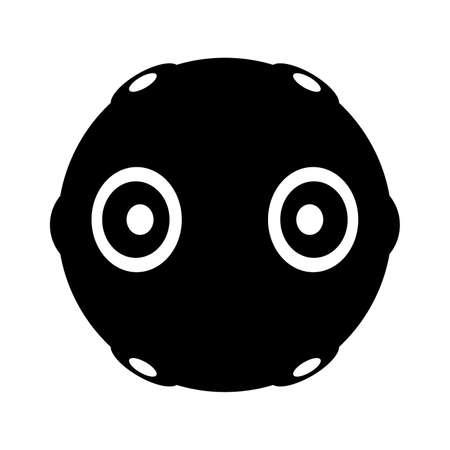 camera symbol: 360 degree camera, shade picture Illustration