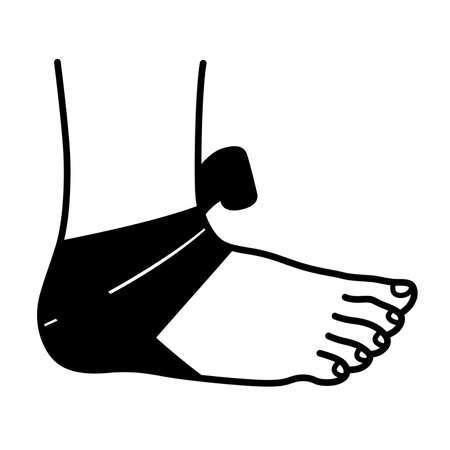 flexibility: Foot bandage Illustration